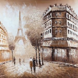 Paris Eyfel Kulesi 15, Şehir Manzaraları Dekoratif Canvas Tablo