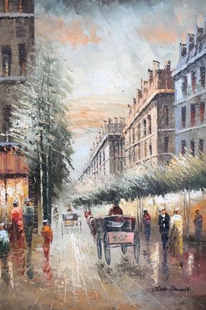 Paris Eyfel Kulesi 19 Şehir Manzaraları Yağlı Boya Canvas Tablo