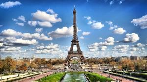 Paris Eyfel Kulesi 2 Dünyaca Ünlü Şehirler Kanvas Tablo