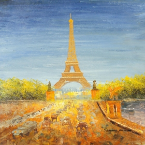 Paris Eyfel Kulesi 21, Şehir Manzaraları Dekoratif Canvas Tablo