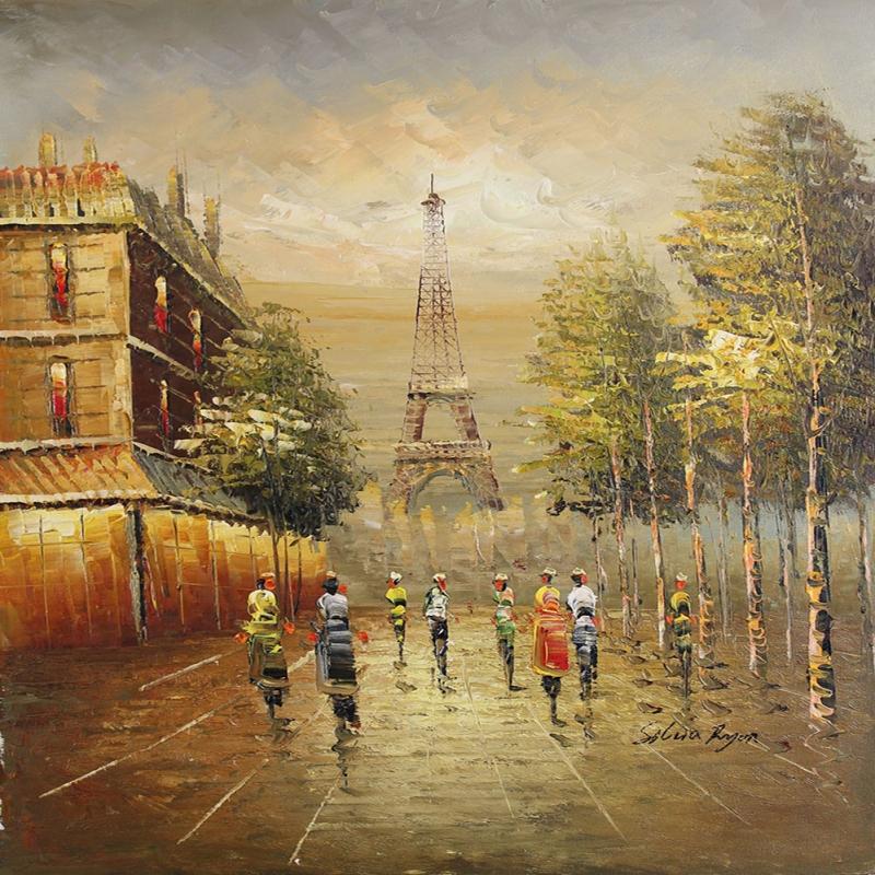 Paris Eyfel Kulesi 22, Şehir Manzaraları Dekoratif Canvas Tablo