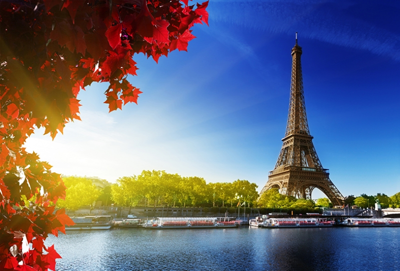 Paris Eyfel Kulesi 4 Dünyaca Ünlü Şehirler Kanvas Tablo