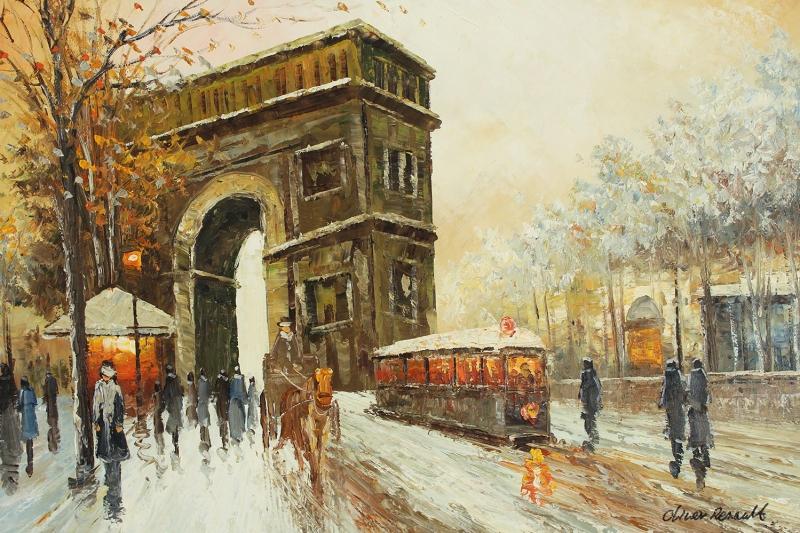 Paris Eyfel Kulesi 7 Şehir Manzaraları Yağlı Boya Canvas Tablo