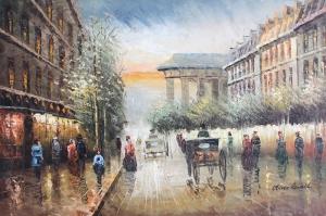 Paris Eyfel Kulesi 8 Şehir Manzaraları Yağlı Boya Canvas Tablo