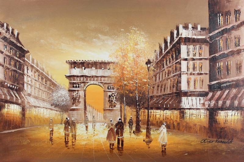 Paris Eyfel Kulesi 9 Şehir Manzaraları Yağlı Boya Canvas Tablo