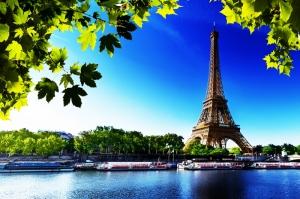 Paris Eyfel Kulesi Manzara-105 Dünyaca Ünlü Şehirler Kanvas Tablo