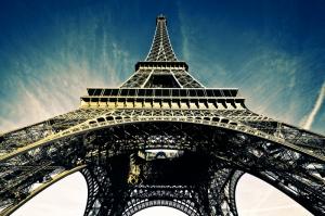 Paris Eyfel Kulesi Manzara-106 Dünyaca Ünlü Şehirler Kanvas Tablo