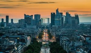 Paris Gün Batımı Dünyaca Ünlü Şehirler Kanvas Tablo