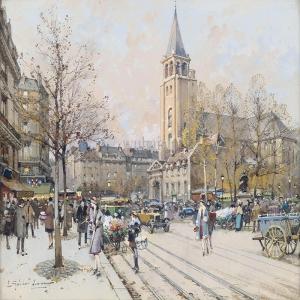 Paris Şehir Manzarası,Fransa 1, Dekoratif Canvas Tablo
