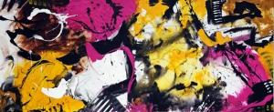 Parlak Canlı Renkler 3 Soyut Yağlı Boya Abstract Kanvas Tablo
