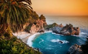Pasifik Okyanusu Kıyısı Doğa Manzaraları Kanvas Tablo