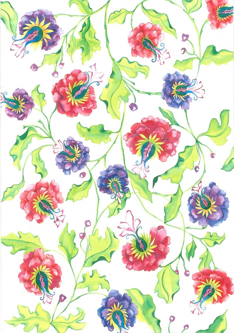Passion Desing Floral Sanat Kanvas Tablo
