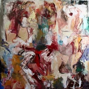 Pastel Renkler Soyut Yağlı Boya Abstract Kanvas Tablo