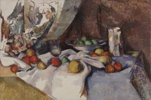 Paul Cezanne Elmalar Yagli Boya Klasik Sanat Kanvas Tablo