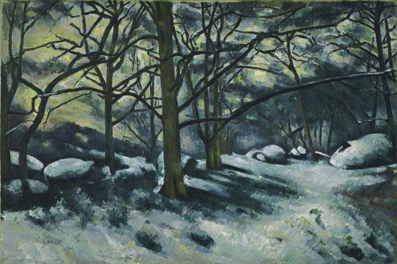 Paul Cezanne Kar Yagli Boya Klasik Sanat Kanvas Tablo