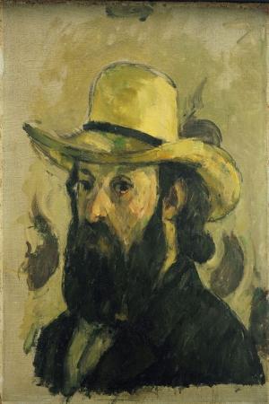 Paul Cezanne Kendi Portresi Sapka Yagli Boya Klasik Sanat Kanvas Tablo