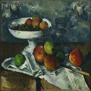 Paul Cezanne Meyve Tabagi Yagli Boya Klasik Sanat Kanvas Tablo