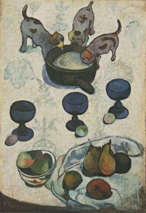 Paul Gauguin Kopek YavrulariYagli Boya Klasik Sanat Kanvas Tablo