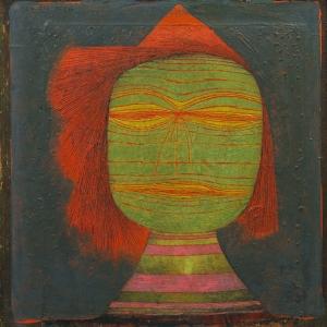 Paul Klee Artist Maskesi Yagli Boya Klasik Sanat Kanvas Tablo