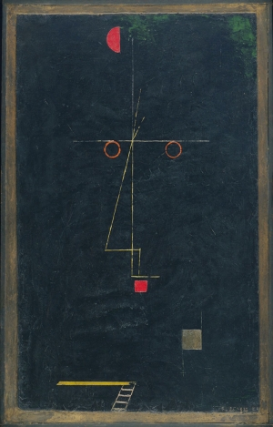 Paul Klee Bir Artistin Portresi Yagli Boya Klasik Sanat Kanvas Tablo