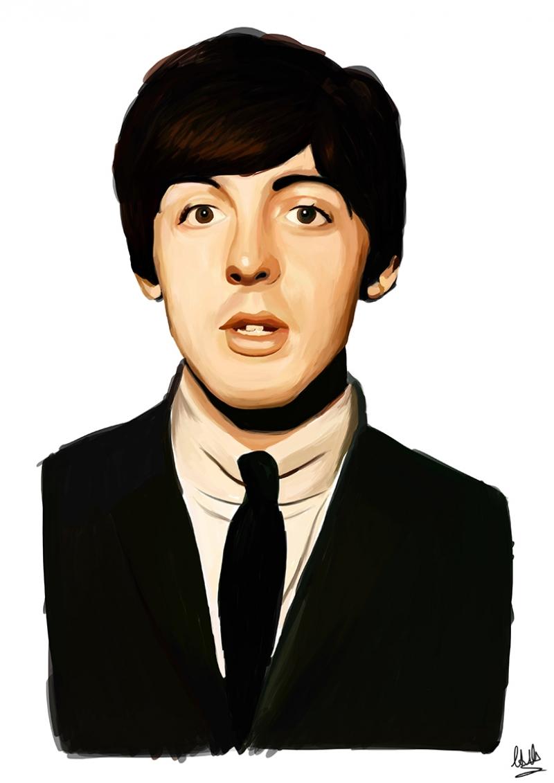 Paul Mccartey Beatles Ünlü Yüzler Kanvas Tablo
