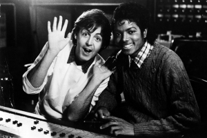 Paul Mccartey ve Michael Jackson Ünlü Yüzler Kanvas Tablo