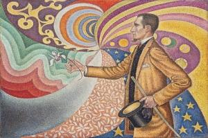 Paul Signac 1890 m Felix Feneon Portresi Yagli Boya Klasik Sanat Kanvas Tablo