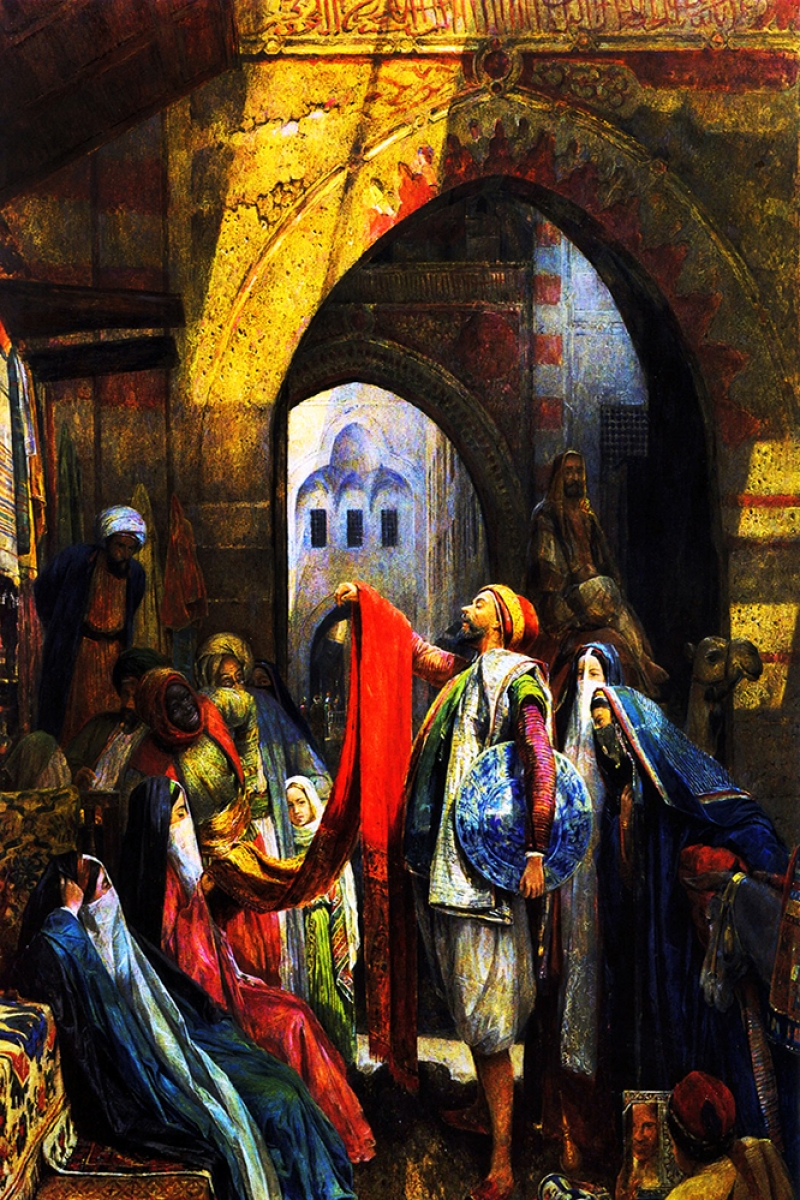 Pazar Yeri Mısır-1 Sanat Kanvas Tablo