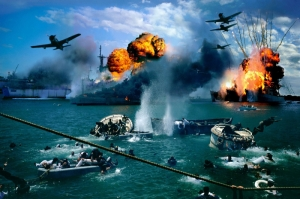 Pearl Harbour Limaninin Bombalanmasi Yagli Boya Sanat Kanvas Tablo