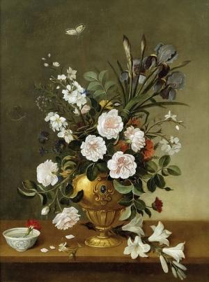 Pedro De Camprobin Vazo İçinde Çiçekler Klasik Sanat Kanvas Tablo