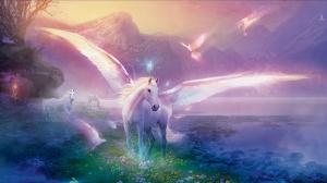 Pegasus At Hayvanlar Kanvas Tablo