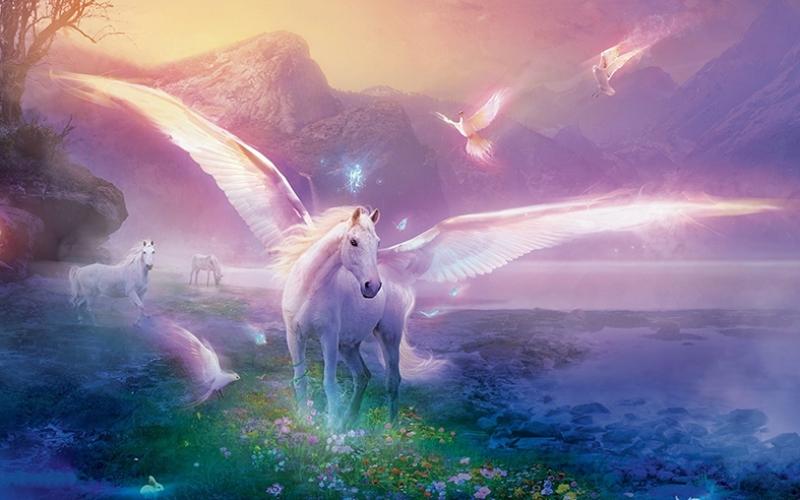 Pegasus Fantastik At Kanvas Tablo