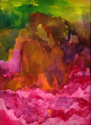 Pembe Hayaller Canlı Renkler Soyut Yağlı Boya Abstract Kanvas Tablo