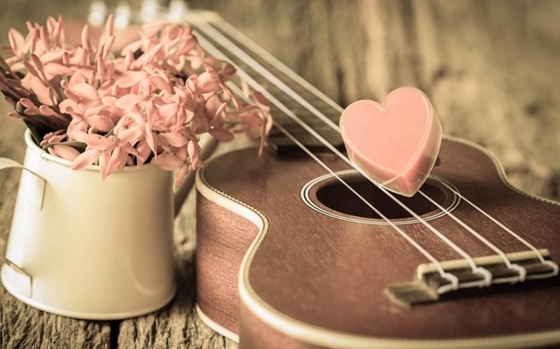 Pembe Kalp Çiçekler-2 Aşk & Sevgi Kanvas Tablo