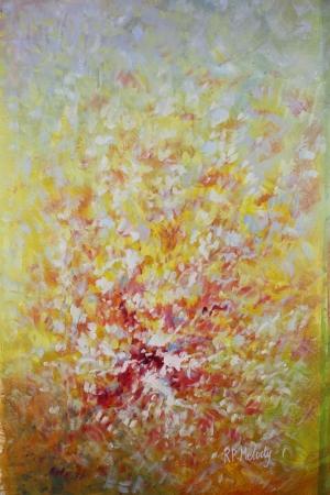 Pembe Kırmızı Çiçekler İç Mekan Dekoratif Kanvas Tablo