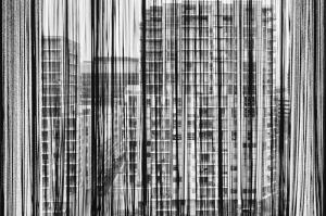 Perde Ardından Şehir Fotoğraf Kanvas Tablo