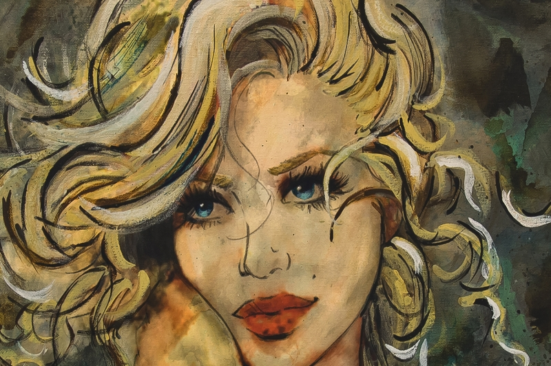 Peri Kızı Modern Sanat Kanvas Tablo