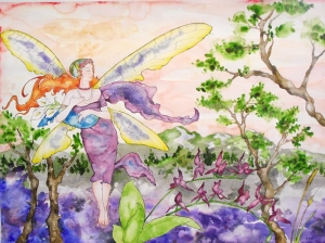 Peri Kızı Yağlı Boya Sanat Kanvas Tablo