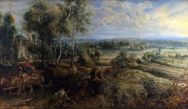 Peter Paul Rubens Het Seen Köy Manzarası Klasik Sanat Kanvas Tablo