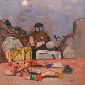 Philip Guston Ay Yagli Boya Klasik Sanat Kanvas Tablo