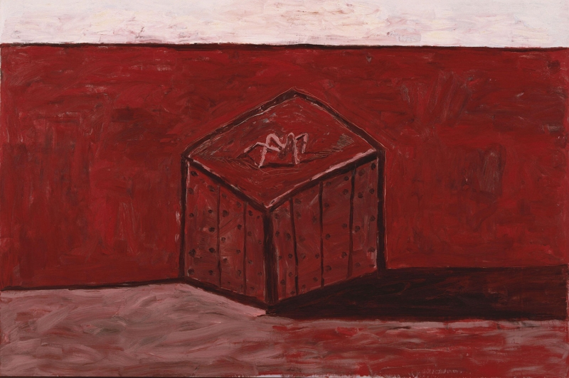 Philip Guston Kutu ve Golgesi Yagli Boya Klasik Sanat Kanvas Tablo