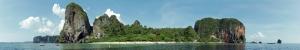 Phra Nang Kumsali Panaromik Kanvas Tablo