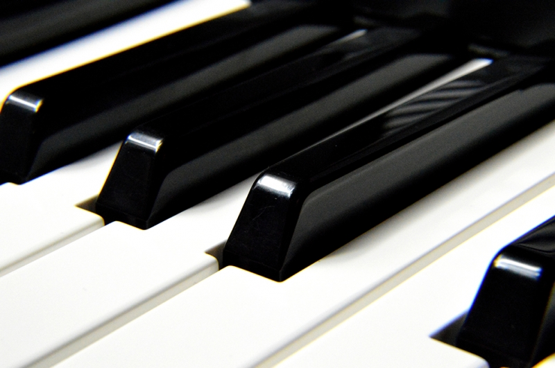 Piano 2 Siyah Beyaz Fotoğraf Kanvas Tablo