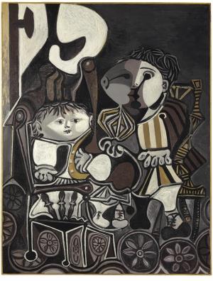 Picasso Claude Et Paloma Yağlı Boya Sanat Kanvas Tablo