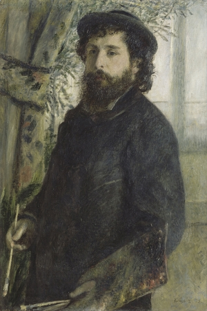Pier Auguste Renoir, Claude Monet Çizimi Klasik Sanat Kanva Tablo