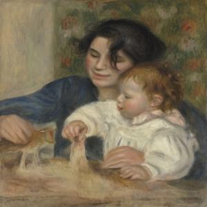 Pierre August Renoir, Gabrielle ve Jean Klasik Sanat Kanvas Tablo