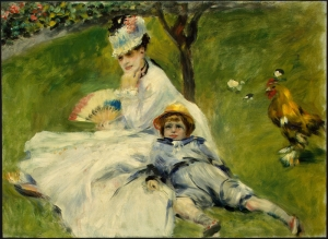 Pierre Auguste Renoir Madame Monet And Her Son Yağlı Boya Sanat Kanvas Tablo