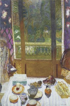 Pierre Bonnard Bahceye Bakan Yemek Odasi Yagli Boya Klasik Sanat Kanvas Tablo