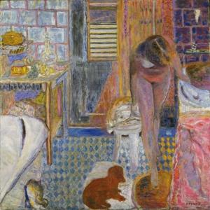 Pierre Bonnard Banyo Yagli Boya Klasik Sanat Kanvas Tablo