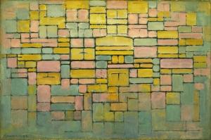Piet Mondrian Tablo 2 Yagli Boya Klasik Sanat Kanvas Tablo